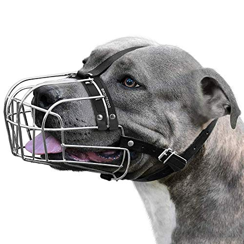 BRONZEDOG Metal Mask Dog Muzzle |