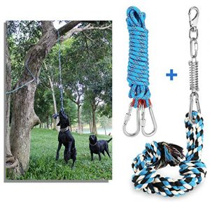 DIBBATU Spring Pole Dog Rope Toys |