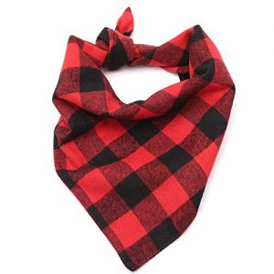 Lumberjack Plaid Pet Dog Bandanas Collar |