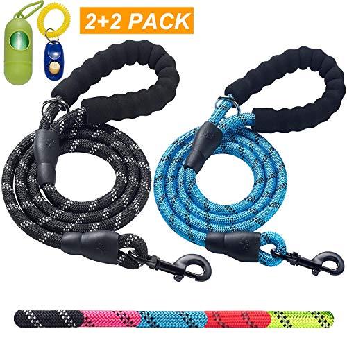 ladoogo 2 Pack 5 FT Heavy Duty Dog Leash |