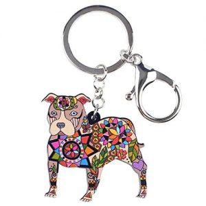 Bonsny Pit Bull Dog Key Chain |