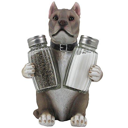 Decorative Pit Bull Glass Salt and Pepper Shaker Set |