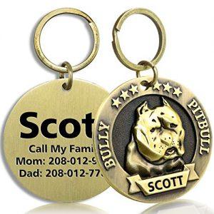 FunTags Bronze Breeds Customized Dog ID Tag  