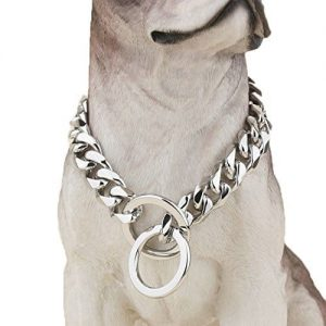 Heavy-Duty-Choke-Cuban-Chain-Dog-Collar-for-Large-Dogs-20mm-XL-Extra-Wide-Strong-Steel-Metal-Links-for-Big-Breeds-Rottweiler-Pitbull-Mastiff-Cane-Corso-Doberman-Great-Dane-0 |