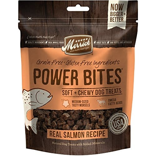 Merrick Power Bites Real Salmon Dog Treats |