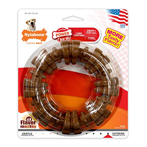 Nylabone DuraChew Ring Dog Toy Flavor Medley |