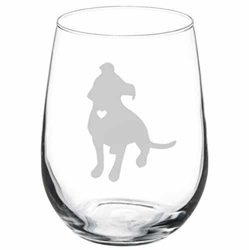Wine Glass Goblet Cute Pitbull |
