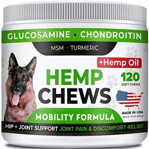 STRELLALAB-Hemp-Treats-Glucosamine-for-Dogs-Hip-Joint-Supplement-wHemp-Oil-Protein-Chondroitin-MSM-Turmeric-to-Improve-Mobility-Energy-Natural-Joint-Pain-Relief-120-Chews-0 |